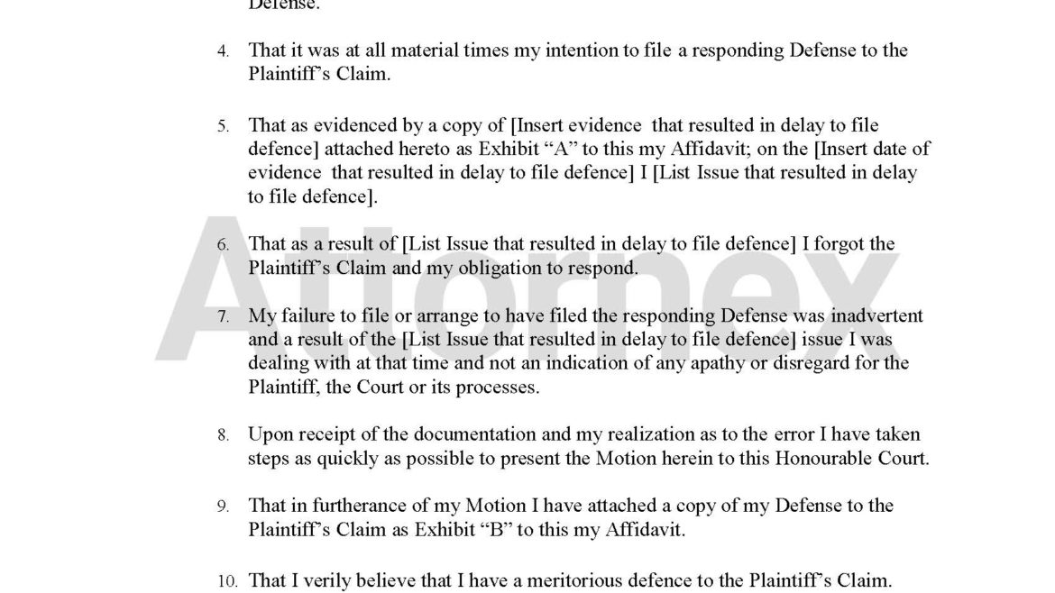 Motion To Set Aside Noting In Default