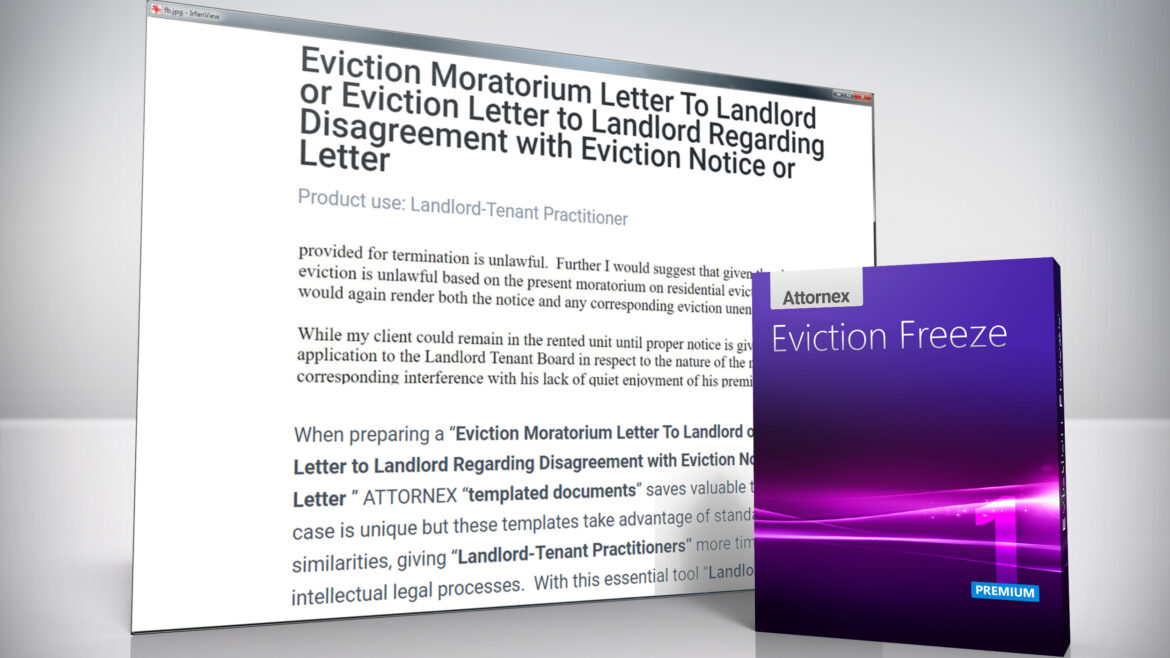 Eviction Moratorium Letter To Landlord or Letter to Landlord Regarding Disagreement with Eviction Notice